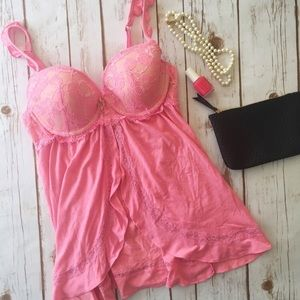 Victoria's Secret light pink babydoll lingerie